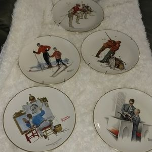 Other - China Norman Rockwell plate set